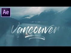 Write On Brush Stroke Text Effect (Beautiful Destinations - After Effects Tutorial) - YouTube