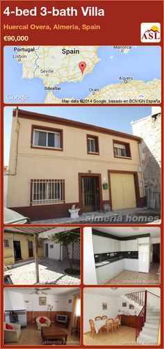 4-bed 3-bath Villa in Huercal Overa, Almeria, Spain ►€90,000 #PropertyForSaleInSpain