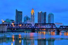 Columbus Ohio Skyline at Night. Columbus, Ohio cityscape overlooking the Scioto , City Of Columbus, Columbus Ohio, Columbus Things To Do, Ohio Is For Lovers, Worthington Ohio, Top Universities, North America, Skyscraper, New York Skyline