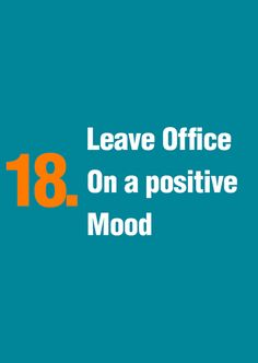 Successful people know how to control their mood