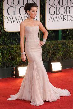 Golden Globes 2012 Red Carpet  Kate Beckinsale in Roberto Cavalli and Lorraine Schwartz