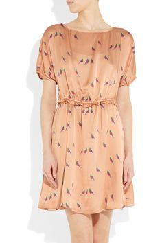 Marc by Marc Jacobs Finch Printed Silk Dress