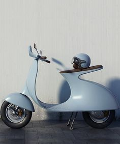 giulio iacchetti reimagines the classic 98cc vespa with a cantilevered seat and electric motor