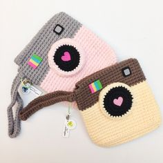 Free Crochet pattern: Image of Pouch: Instagram Inspired Crochet Pouch - For Instax Share Printer