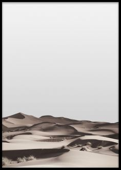 Vacker stilren poster med naturmotiv. Snygg tavla med fotografi över öken. Stilrena tavlor i storleken 50x70cm.