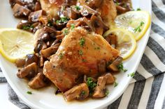 Chicken Thighs in Mushroom Sauce is the perfect easy weeknight meal that you'll crave. Serve on top of buttered egg noodles or on big a bunch of spinach.