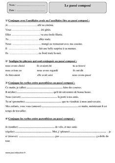 Pronoms personnels - Cm1 - Exercices - Grammaire - Cycle 3 - Pass Education | Exercice grammaire ...