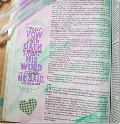 My Weekly Bible Journaling #12 | Paulette's Papers Book of Numbers