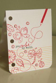 Simple doodle card