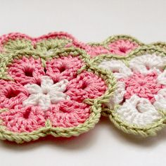 crochet african flower. Color Inspiration ONLY.