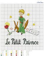 Le Petit Prince a broder au point de croix 2017