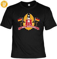 Griller T-Shirt - GRILL PRÄSIDENT - FunHemd für BBQ und Grillen - Shirts mit spruch (*Partner-Link)
