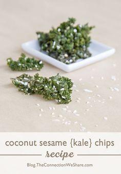 Coconut Sesame Kale Chips – Sweet Kale Chips Recipe