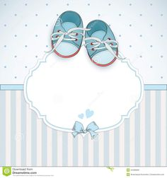 Baby Boy Shower Card - Download From Over 41 Million High Quality Stock Photos, Images, Vectors. Sign up for FREE today. Image: 44496669