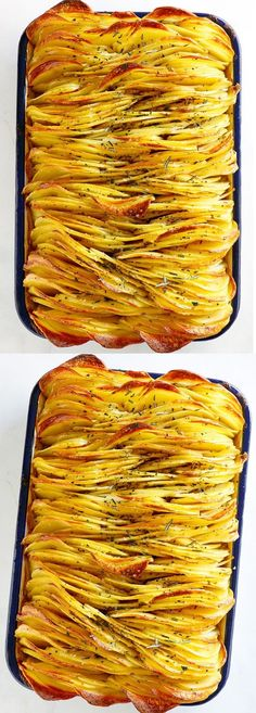 Crispy Leaf Potatoes (Best Roasted Potatoes Ever) - Rasa Malaysia Side Dish Recipes, Vegetable Recipes, Vegetarian Recipes, Cooking Recipes, Healthy Recipes, Easy Recipes, Recipes Dinner, Delicious Recipes, Simple Potato Recipes