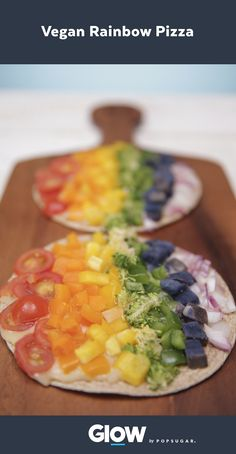 Replace your salad with this vegan rainbow flatbread that takes just 10 minutes to make.