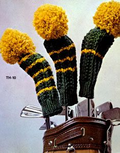 NEW! Golf Club Mitts knit pattern from Things to Knit & Crochet, Leaflet 2576.