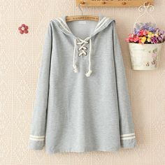Material: Cotton Color: navy blue, gray Size: One Size Shoulder: 40cm Bust: 107cm-124cm Sleeve: 61cm Length: 68cm Visiting Store: http://cuteharajuku.storenvy.com find more cute fashion things, some suit for you!