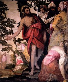 PAOLO VERONESE, ST. JOHN THE BAPTIST PREACHING, C. 1562