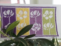 Spring cross stitch greeting card pattern by CamisTheCrossStitch