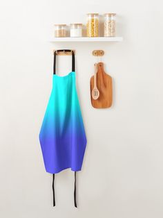 """Neon Blue and Bright Neon Aqua Ombré Shade Color Fade"" Apron by podartist   Redbubble Soft Purple, Pastel Purple, Blue Ombre, Lilac, Samba, Turquoise Color, Pink Color, Teal, Color Concept"