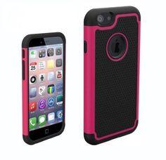 Funda de goma protectora para Iphone 6 color fucsia