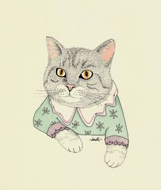 cat illustration - Google zoeken