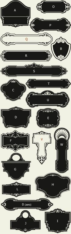 Letterhead Fonts / LHF Broadway Panels 1/ Art Deco Panels NOT FREE