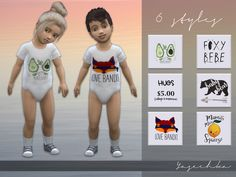 Toddler Bodysuit v1 Found in TSR Category 'Sims 4 Toddler Female'
