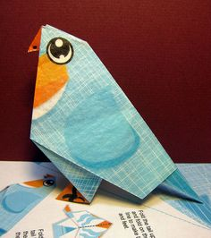 Free origami download.  I've actually downloaded this and tried it out myself.  IT WORKS!  It is so adorable.
