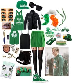 """""""St. Patrick's Day with Niall"""" by snuffieloves ❤ liked on Polyvore"""