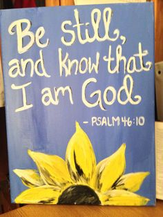 Bible verse and sunflower canvas by MohrCreative on Etsy