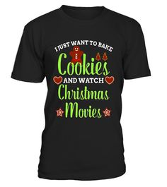 Cookie man and Christmas movie T Shirt Bake Funny Tees