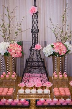 pink desserts at a Paris bridal shower party! See more party planning ideas at !Amazing pink desserts at a Paris bridal shower party! See more party planning ideas at ! Paris Bridal Shower, Paris Baby Shower, Bridal Shower Party, Bridal Showers, Rosa Desserts, Pink Desserts, Paris Desserts, Paris Themed Birthday Party, Spa Birthday