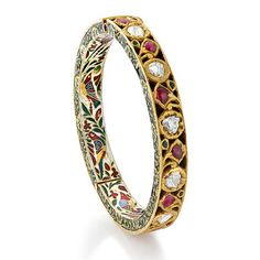 A PERIOD RUBY AND DIAMOND BANGLE #kundan #polki #cabochon #rosecut #indian #traditional