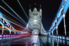 London Light Trails by Jorg Dickmann Beautiful Places, Beautiful Pictures, Amazing Places, All Of The Lights, Light Trails, Night Photography, Creative Photography, Night Photos, London
