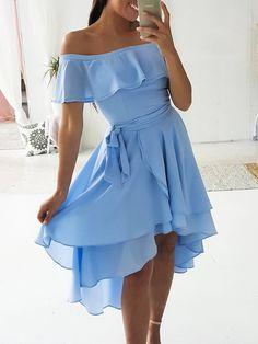 0e2d5d659a Shop Flounce Off Shoulder Layered Dip Hem Casual Dress – Discover sexy  women fashion at IVRose