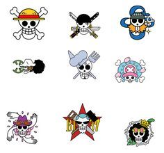One Piece - Straw Hat Flag Vector Pack by on DeviantArt One Piece Logo, One Piece Tattoos, One Piece World, One Piece Fanart, One Piece Anime, Tatuagem One Piece, One Piece Zeichnung, One Piece English Sub, One Piece Drawing