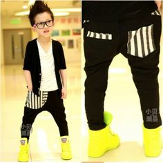 kids harem pants harem pants for boys girls drop crotch pants Little Man Style, Little Kid Fashion, Cute Kids Fashion, Baby Boy Fashion, Boys Harem Pants, Kids Pants, Toddler Swag, Drop Crotch Pants, Boys Wear