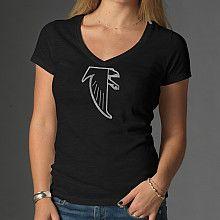 """'47 Brand Atlanta Falcons Women's """"Scrum"""" V-Neck Logo T-Shirt - NFLShop.com"""