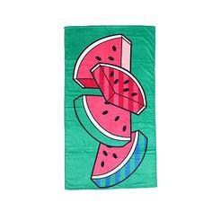 Beach Towel Seasonal Green ($8) ❤ liked on Polyvore featuring home, bed & bath, bath, beach towels, perpetual green, green beach towel, pattern beach towel and velour beach towels