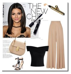 """""""Lovely nude"""" by hedija-okanovic ❤ liked on Polyvore featuring The Row, Chicwish and Gianvito Rossi"""