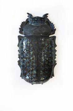 "Keramik Wand Skulptur Käfer ""Entomologische Kollektion"" www.etsy.com/de/shop/KunstLABor"