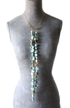Collar O-Asis cerámica Ceramics Porcelain Ceramic Jewelery