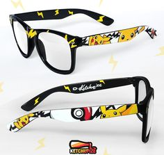 Pikachu Pokemon glasses by Ketchupize. Ooooh, I wish they had these available for prescription eyewear! :) need these i luv pikachu and nerd glasses Pokemon Gifts, All Pokemon, Pokemon Fan, Pokemon Stuff, Pokemon Fusion, Pokemon Cards, Pikachu Pikachu, Gotta Catch Them All, Catch Em All