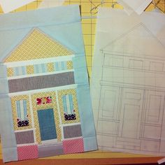 House block for charise by Spotted Stone Studio {Krista}, via Flickr