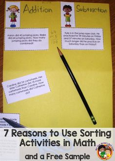 Not Your Mother's Math Class: 7 Reasons to Use Sorting Activities in Math (and a Free Sample)