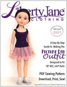 Liberty Jane Patterns/ Journey Girl Dolls Picture Day Outfit $5.99