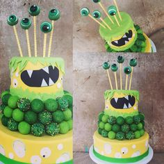 thecakeballers What's that you need, a monster themed cake ball cake for a 2 year old? Okee dokee. Done. We've even got the eye ball pops to prove it! We love a good theme if you hadn't noticed. www.cakeballers.com #thecakeballers #cakeballers #cakeballcake #monster #green #yellow #eatmorecakeballs #idahoballers #weballcake #cake #kidsbirthday #celebrationisourmiddlename #boiseidaho #wehaveradcustomers