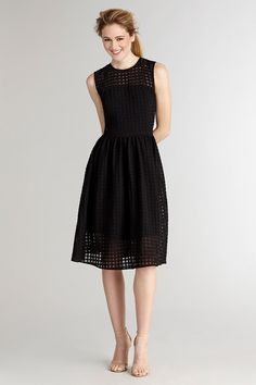 Maggie-Jacquard Add some texture in your wardrobe with this window pane pattern dress.